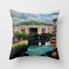 Kauai Grand Hyatt Resort Throw Pillow