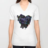 lovers V-neck T-shirts featuring LOVERS by i am gao