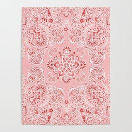 Pink Paisley Bandana Poster