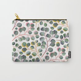 Simple Silver Dollar Eucalyptus Leaves Carry-All Pouch