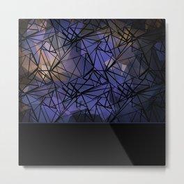 Polygon mesh . Blue . Metal Print