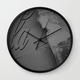 They Shut it Down - Europa Park in Corralejo, 2015 B&W Edition Wall Clock