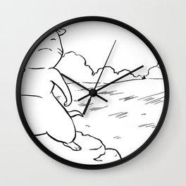 A Mile A Minute: Scottish Fold Black & White Wall Clock