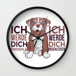 german pitbull dog  Wall Clock