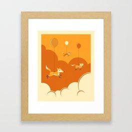 FLOCK OF FOXES Framed Art Print