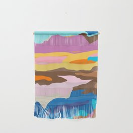 Shape and Layers no.19 - Abstract Modern Landscape Wall Hanging