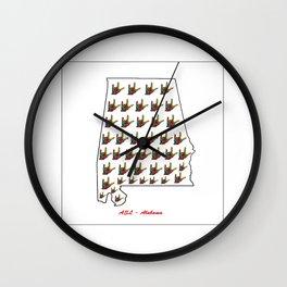 ASL - Alabama Wall Clock