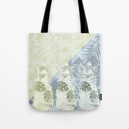 Elegant Geometric Pineapples Tropical Pattern Tote Bag