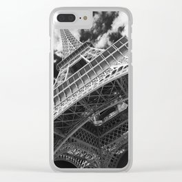 Eiffel Tower Infrared Abstract Clear iPhone Case