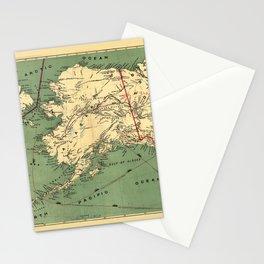 Map of Alaska by J. Millroy (1897) Stationery Cards