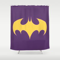 batgirl Shower Curtains featuring The BatGirl by EmeraldSora