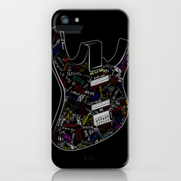 Guitar of fame: Drawing version iPhone Case
