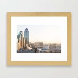 Peaceful Coffee Drinking Morning in Urban City Framed Art Print