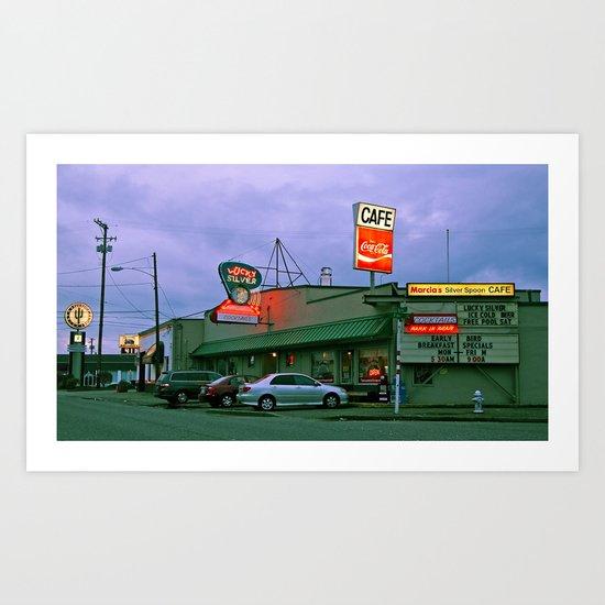 Cafe corner Art Print