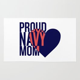 Proud Navy Mom Rug