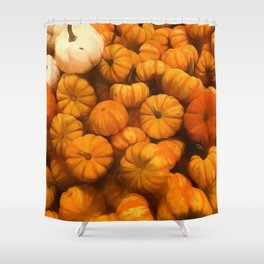 Pumpkins Tiny Gourds Pile Shower Curtain