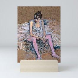 Dancer in Pink Tights Mini Art Print