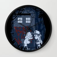 gravity falls Wall Clocks featuring Bad wolf in gravity falls by Tonz