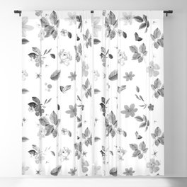 Yellow Flowers & White Roses 7 Blackout Curtain