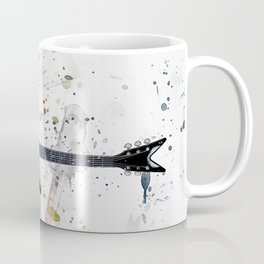 Guitar Splash Paint Coffee Mug