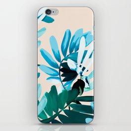 Big leaves blue iPhone Skin