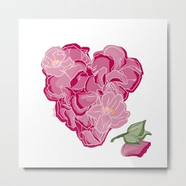 Heart of flowers Metal Print