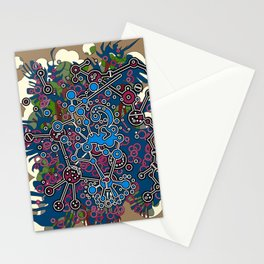 Abstract poster,Inspiration by nature micro organic structures. Stationery Cards