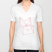 polygon V-neck T-shirts featuring Polygon by Rubraga