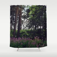 finland Shower Curtains featuring Porvoo- Finland by Cynthia del Rio