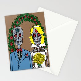 Day of the Dead Bride & Groom Portrait Stationery Cards