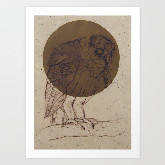 Owl Moon Art Print