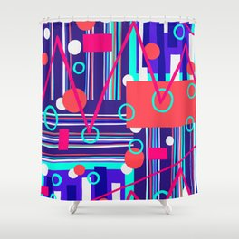 Peaks & Troughs Shower Curtain