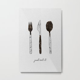 Just Eat It, Music Quote Metal Print