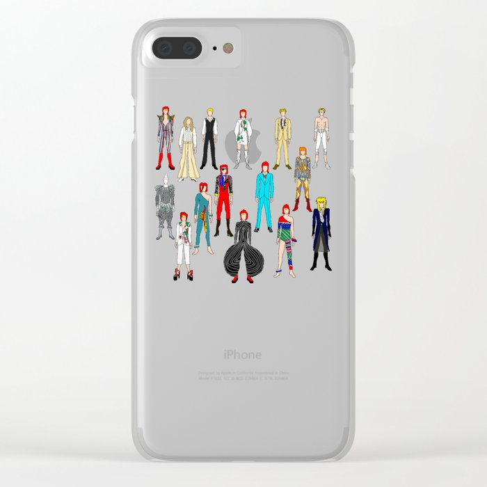 Heroes Scattered Pattern Black Clear iPhone Case