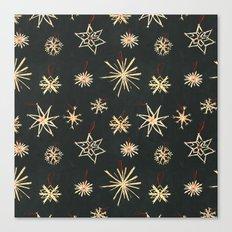 Black Stars Canvas Print