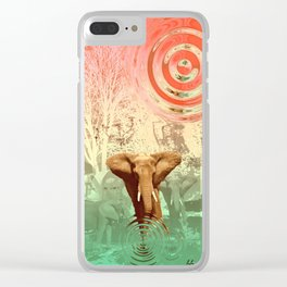 Elephants in the Ballroom Clear iPhone Case