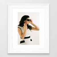 mod Framed Art Prints featuring MOD by Larissa Coe