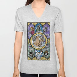 The Adoration of the Squirrel Unisex V-Neck