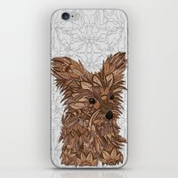yorkie iPhone & iPod Skins featuring Cute Yorkie by ArtLovePassion