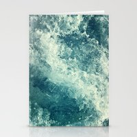 pink Stationery Cards featuring Water I by Dr. Lukas Brezak
