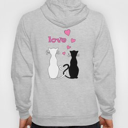Couple cats with love Hoody