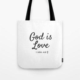 God is Love - Religious Art Tote Bag