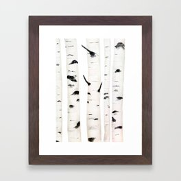 birch  watercolor Framed Art Print