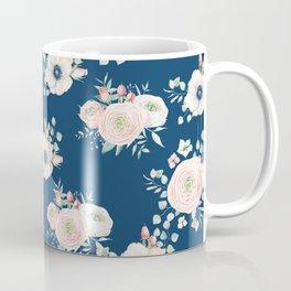 Dog Rose Pattern Coffee Mug