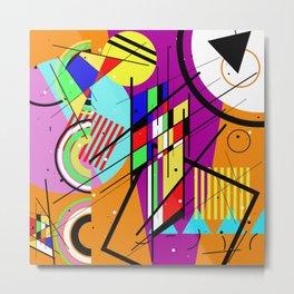 Crazy Retro 2 - Abstract, geometric, random collage Metal Print