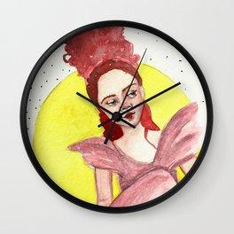 Woman in Dress Wall Clock