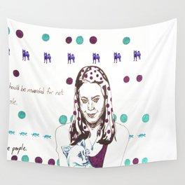 Aubrey Plaza Wall Tapestry