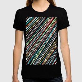Dots Doodle Line Plaid Pattern Colorful  T-shirt