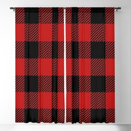 Western Country Woodland Christmas Cottage Primitive lumberjack Buffalo Plaid Blackout Curtain