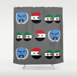 United Nations is watching Syria Shower Curtain